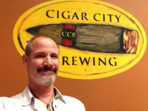 Kris Calef on site in Cigar City's tasting room...And taste we did.