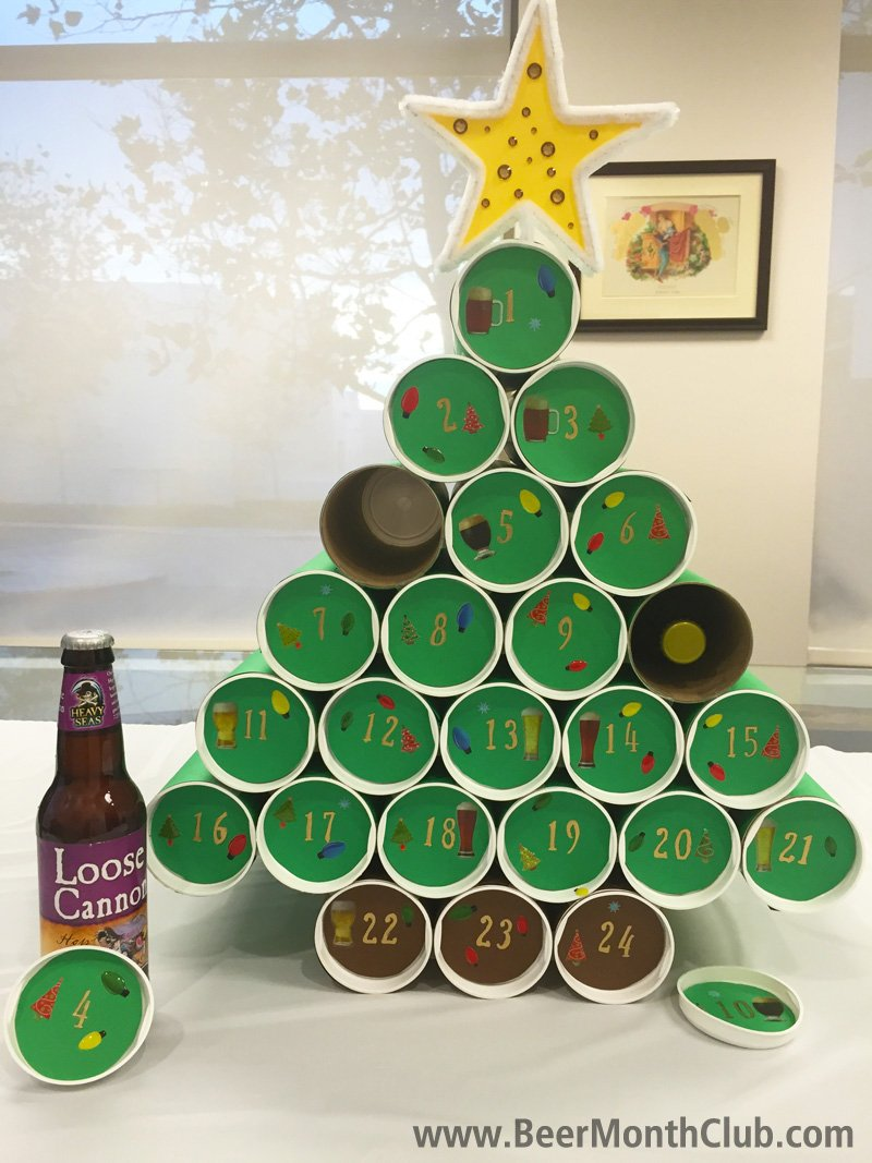 Diy craft beer advent calendar craft beer blog from the beer of advent christmas tree with beer solutioingenieria Images